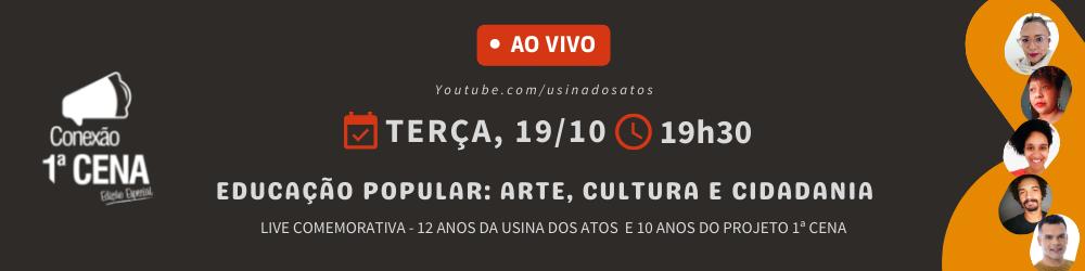 LIVE - Educação popular: arte, cultura e cidadania